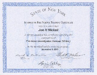 NYS Certificate