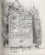 Grave stone drawing
