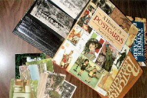 Post cards and books