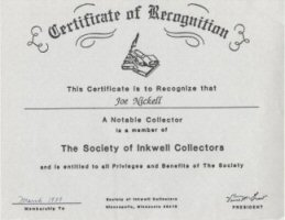 Inkwell Certificate