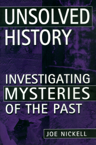 Unsolved History book