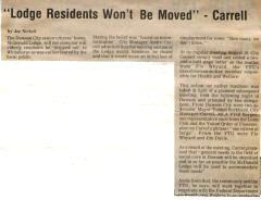 Lodge residents article